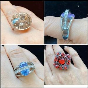 4 Piece rings size 6/7